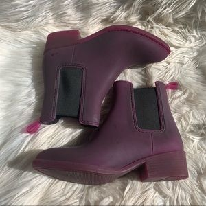 Jeffrey Campbell Chelsea Rain Boot Ankle Purple 7
